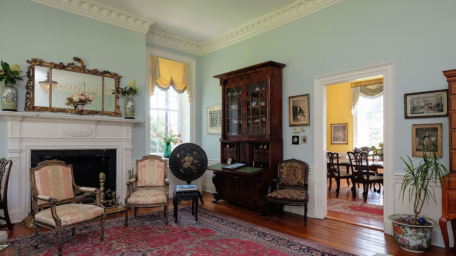 The living room of the Mulberry Hill manor house