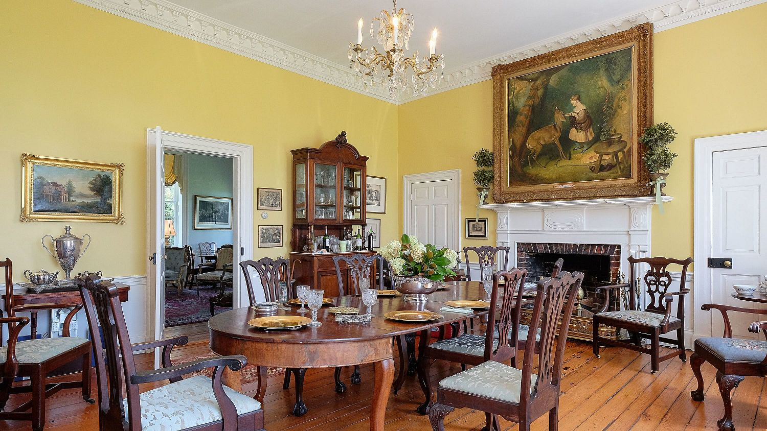 The dining room of the Mulberry Hill manor house